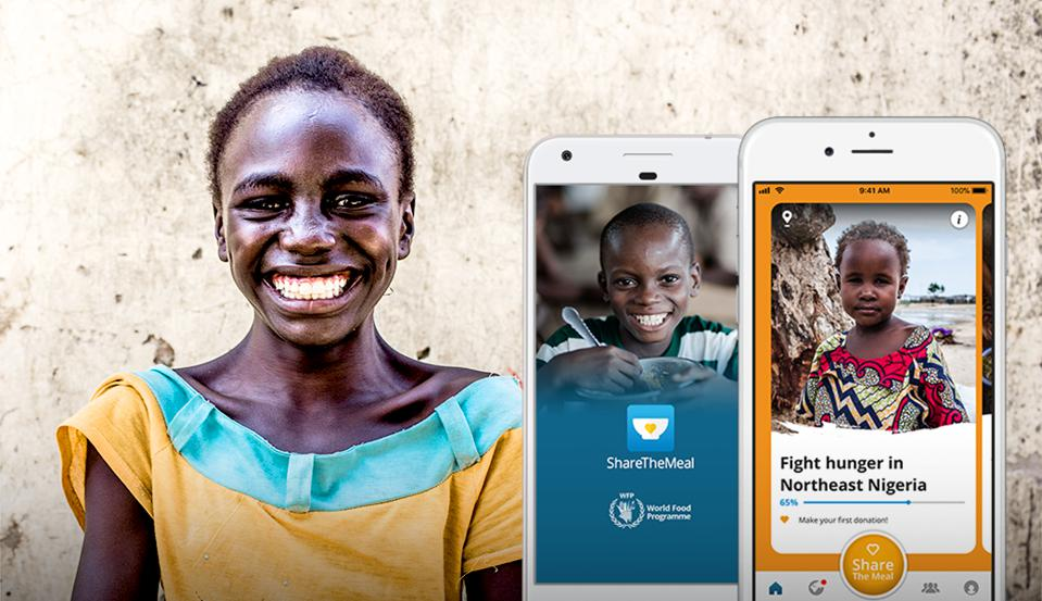 Photp: Some three million people have already provided meals for children using the ShareTheMeal app. PHOTO: SHARETHEMEAL/WORLD FOOD PROGRAMME